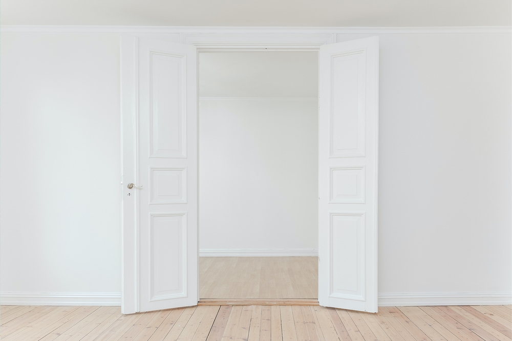 White wall and door
