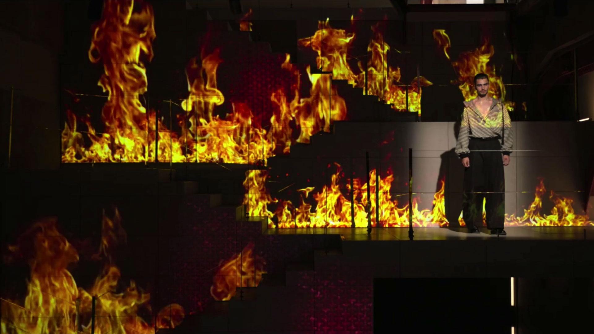 amazon prime 3d projection mapping eventagrate fashion technology touch designer dubai japan fire