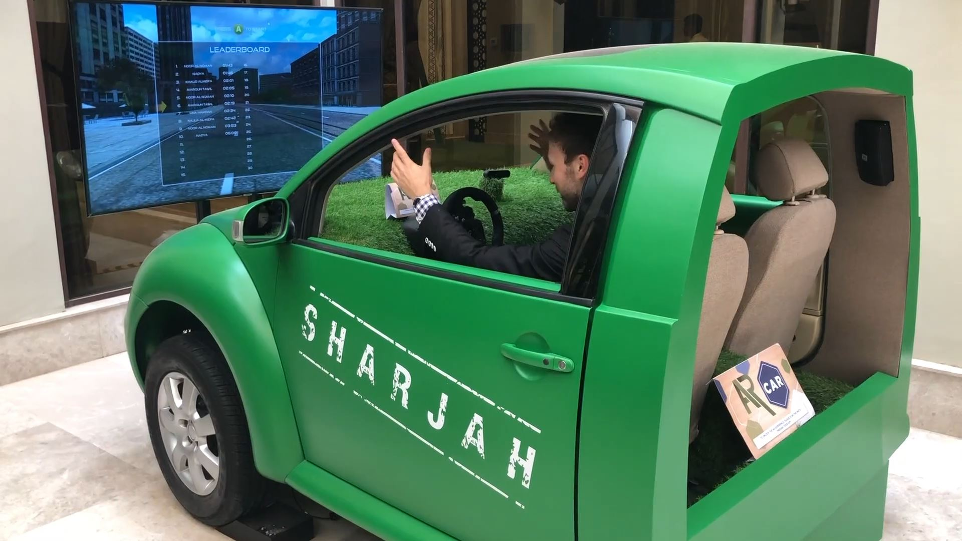 sharjah e-Government retreat interactive technology integration racing simulator
