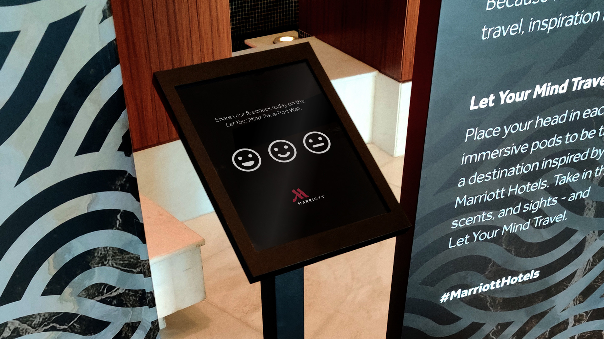 wall marriott interactive technology sensors scent touch eventagrate dubai tablet feedback form