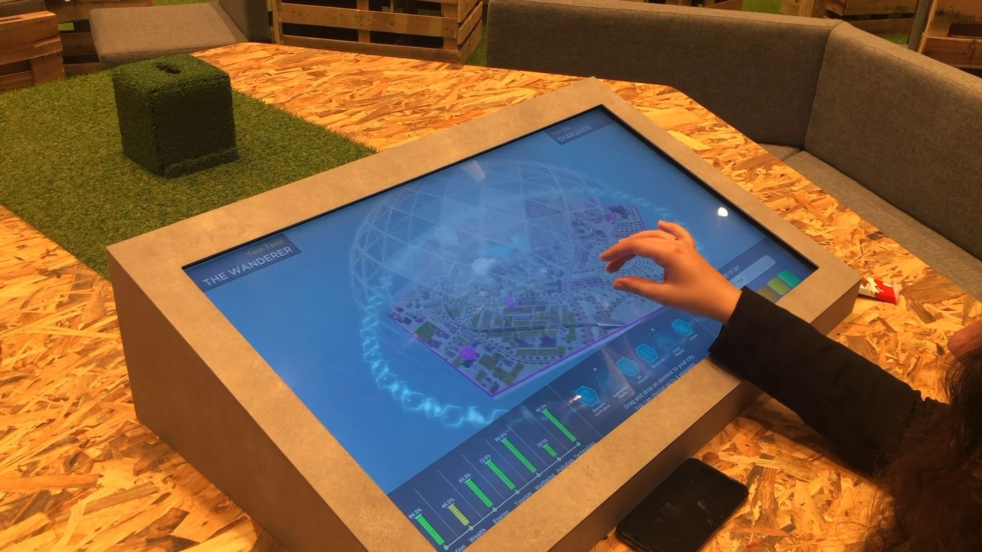 sharjah e-Government retreat interactive technology integration touchscreen training