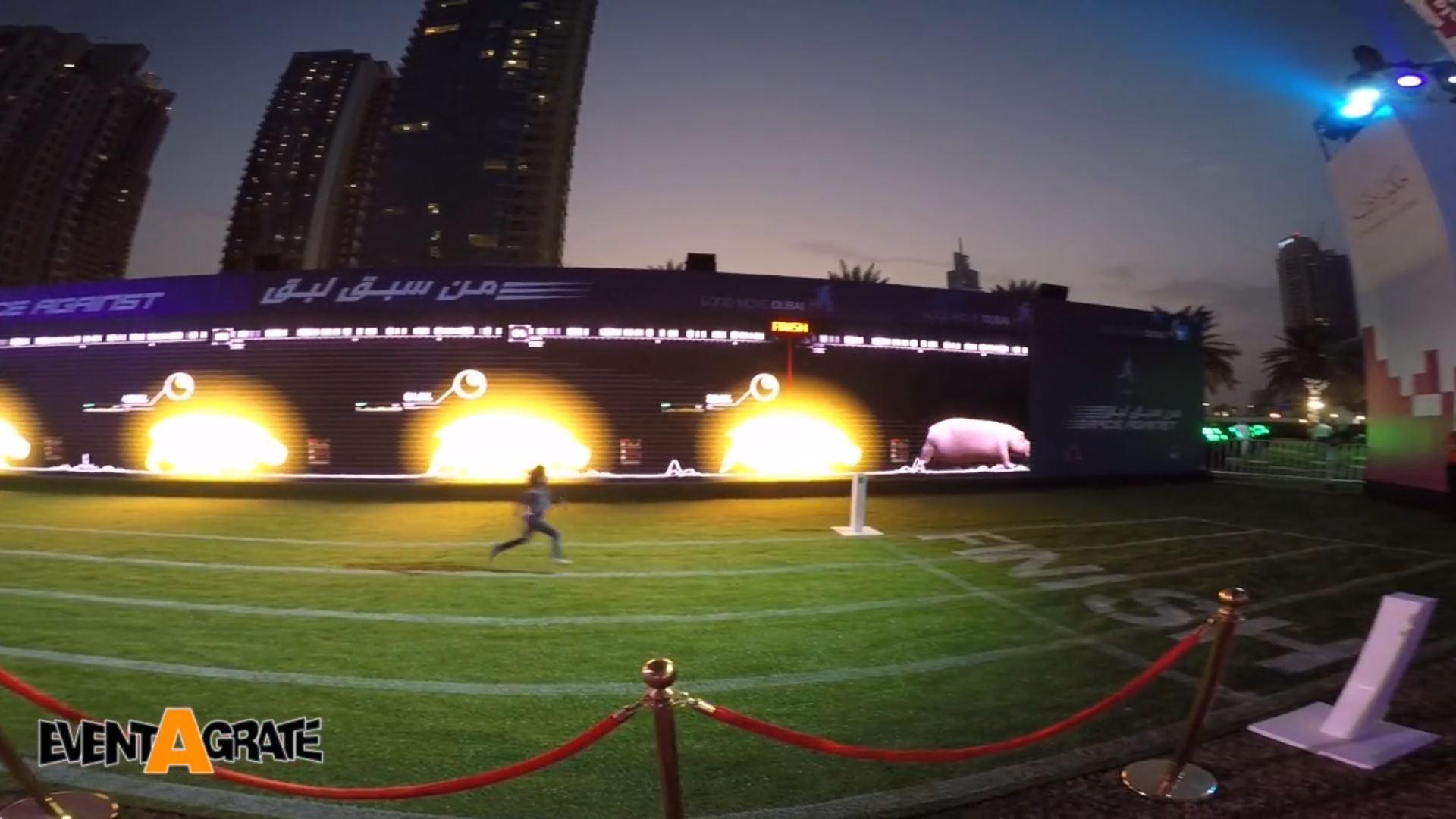 the run interactive running wall sesor technology high tech animation