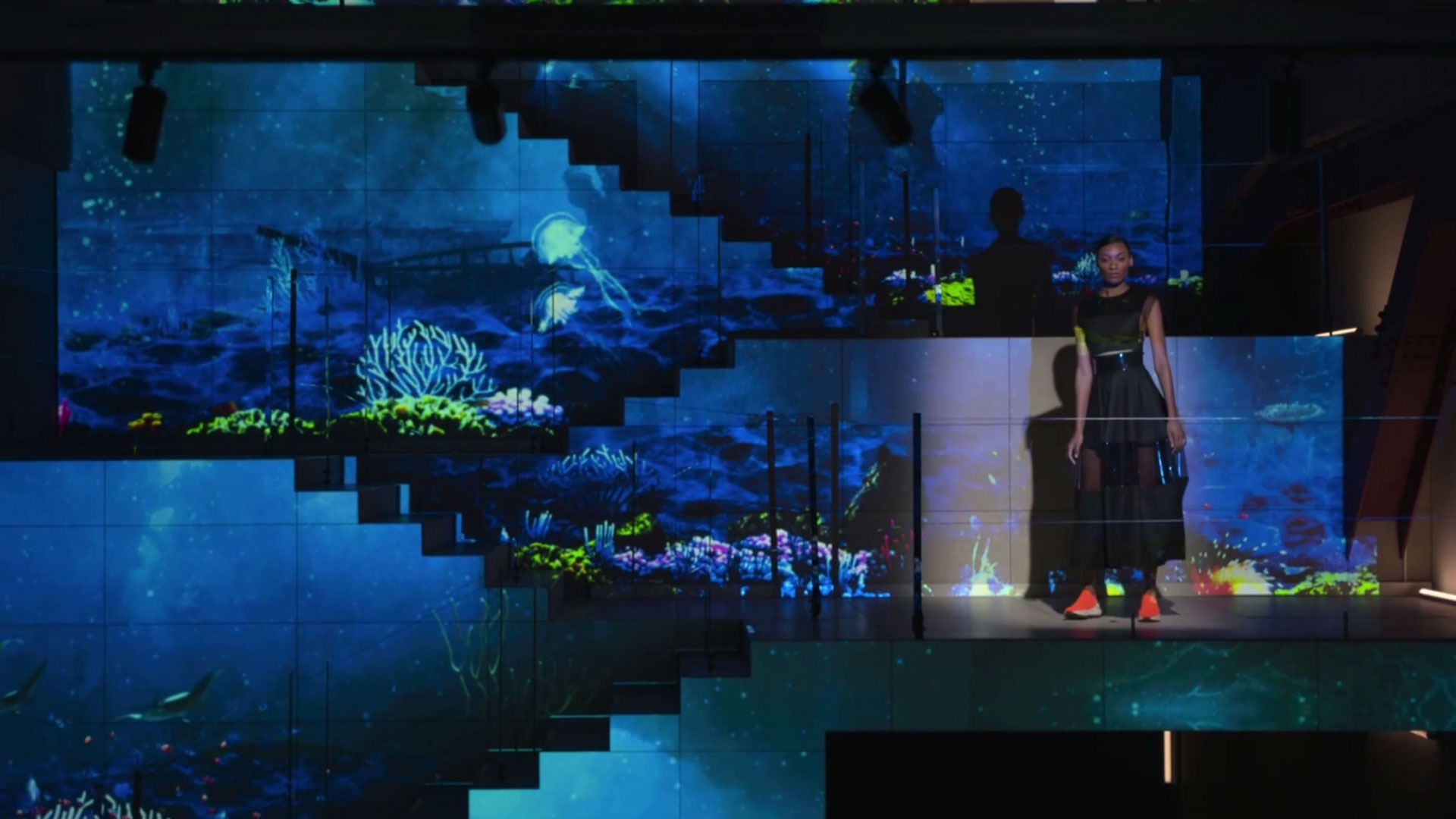 amazon prime 3d projection mapping eventagrate fashion technology touch designer dubai japan water underwater