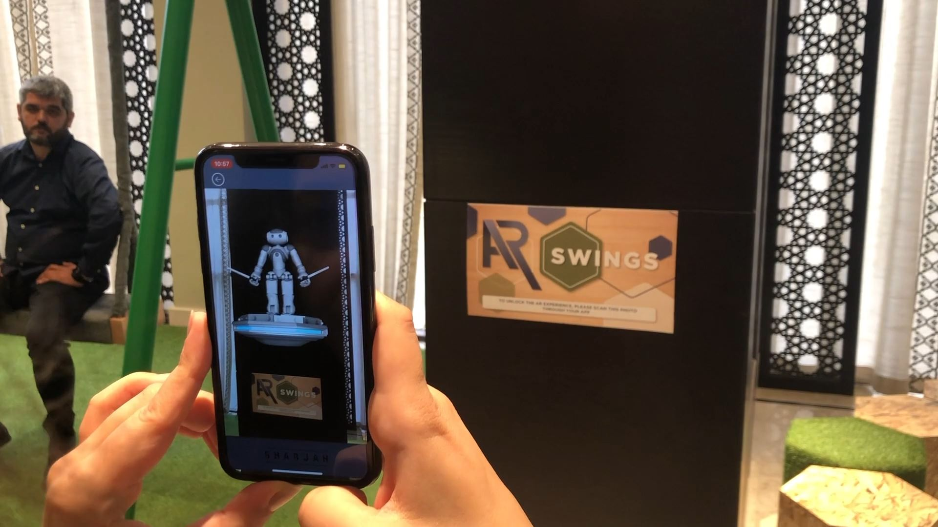sharjah e-Government retreat interactive technology integration AR augmented reality games on mobile application