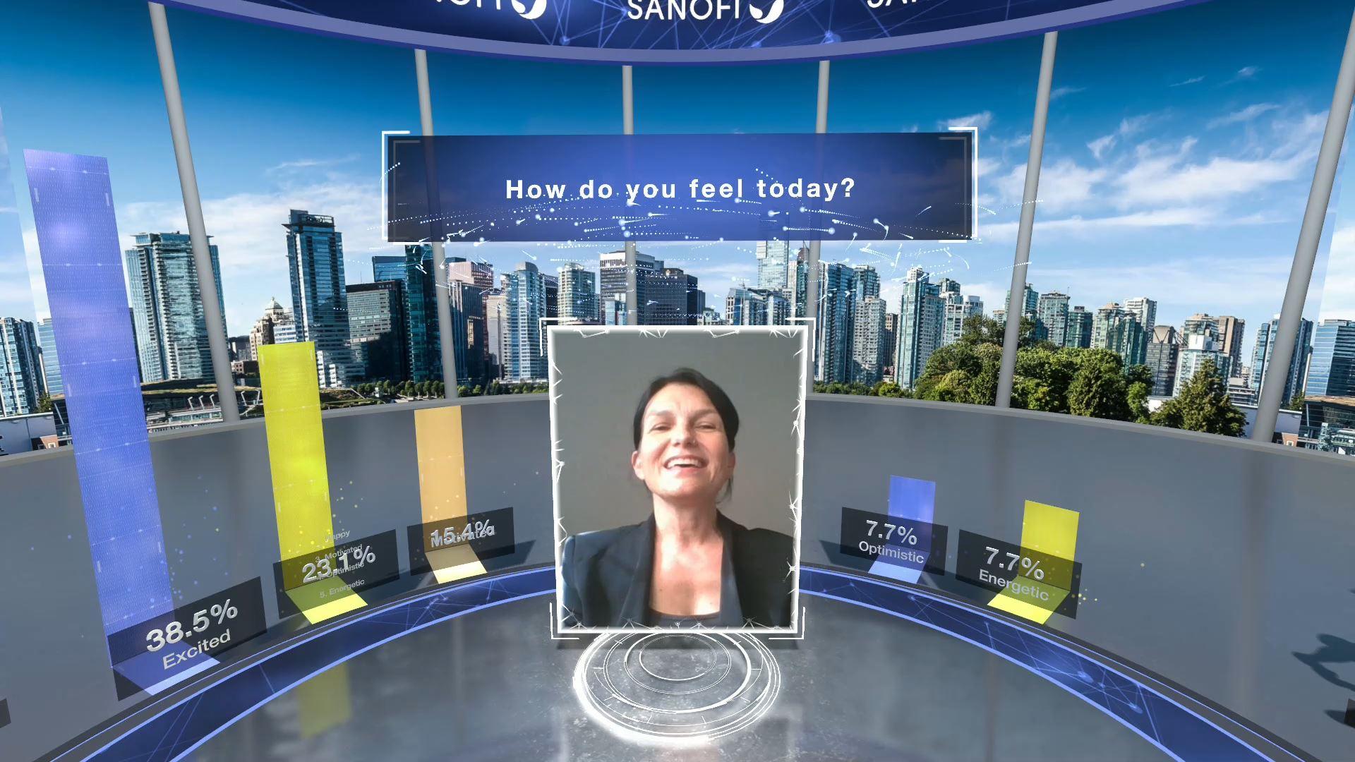 login page sanofi eventagrate virtual event stage