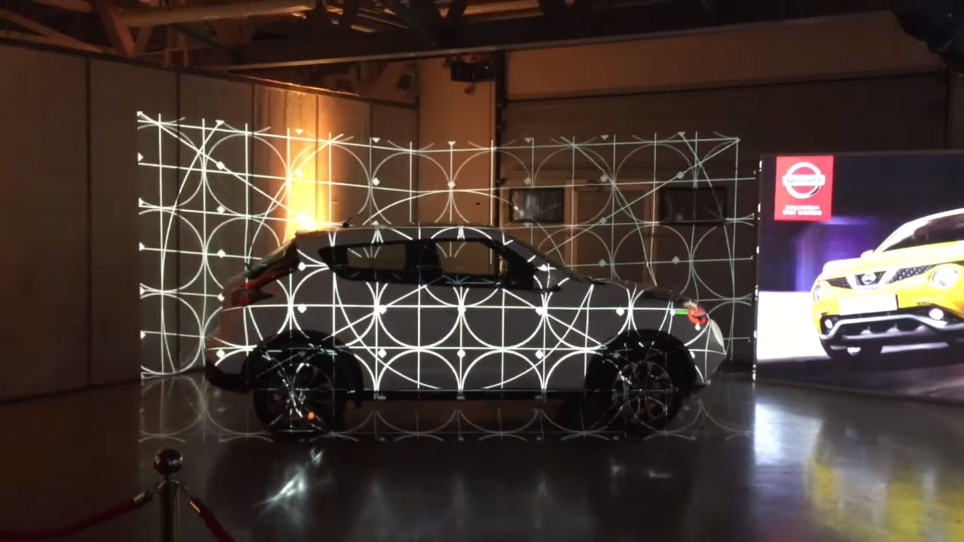 nissan eventagrate interactive projection mapping calibration