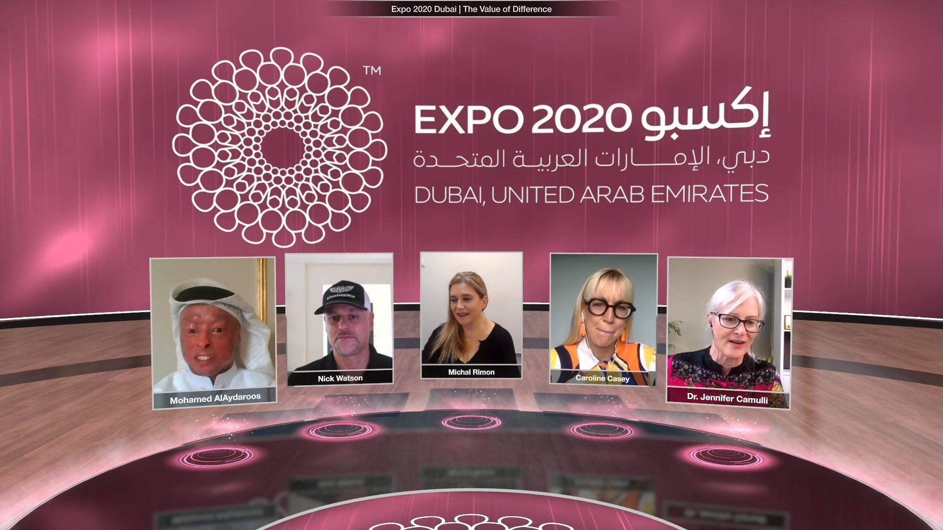 expo 2020 thematic weeks virtual event panel discussion