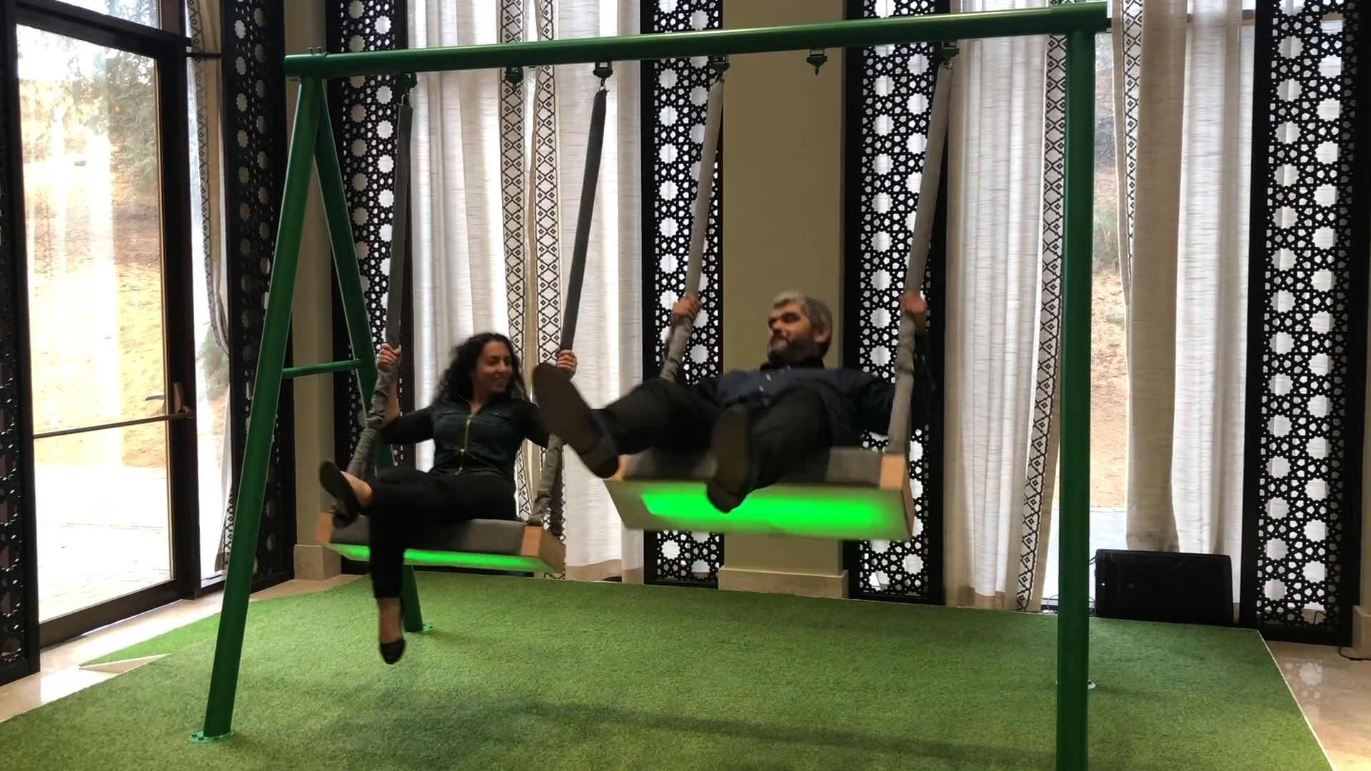 sharjah e-Government retreat interactive technology integration musical swings