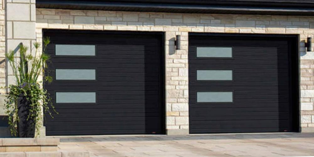Double custom garage door in Charlotte, NC.