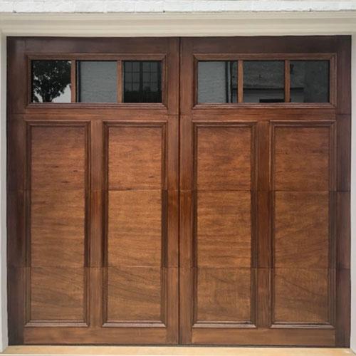 Customized wood design door in Charlotte, NC.