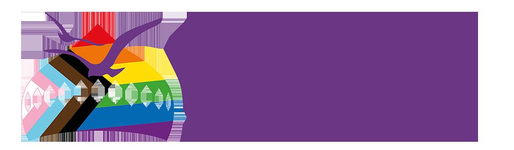 Pride, Brighton and Hove logo.