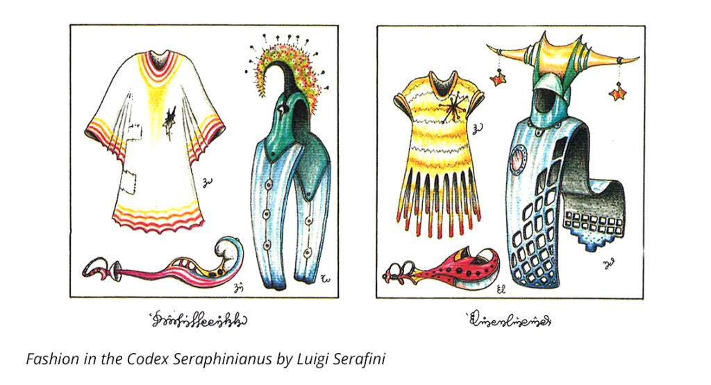 fashion in the codex seraphinianus by luigi serafini