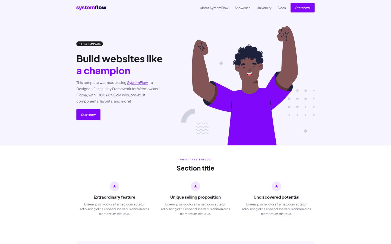SystemFlow Template Purple
