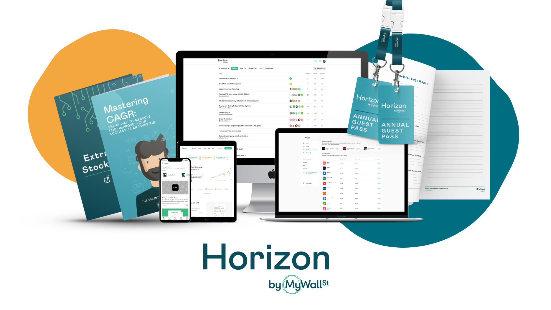A product shot with all the products and services included in Horizon.