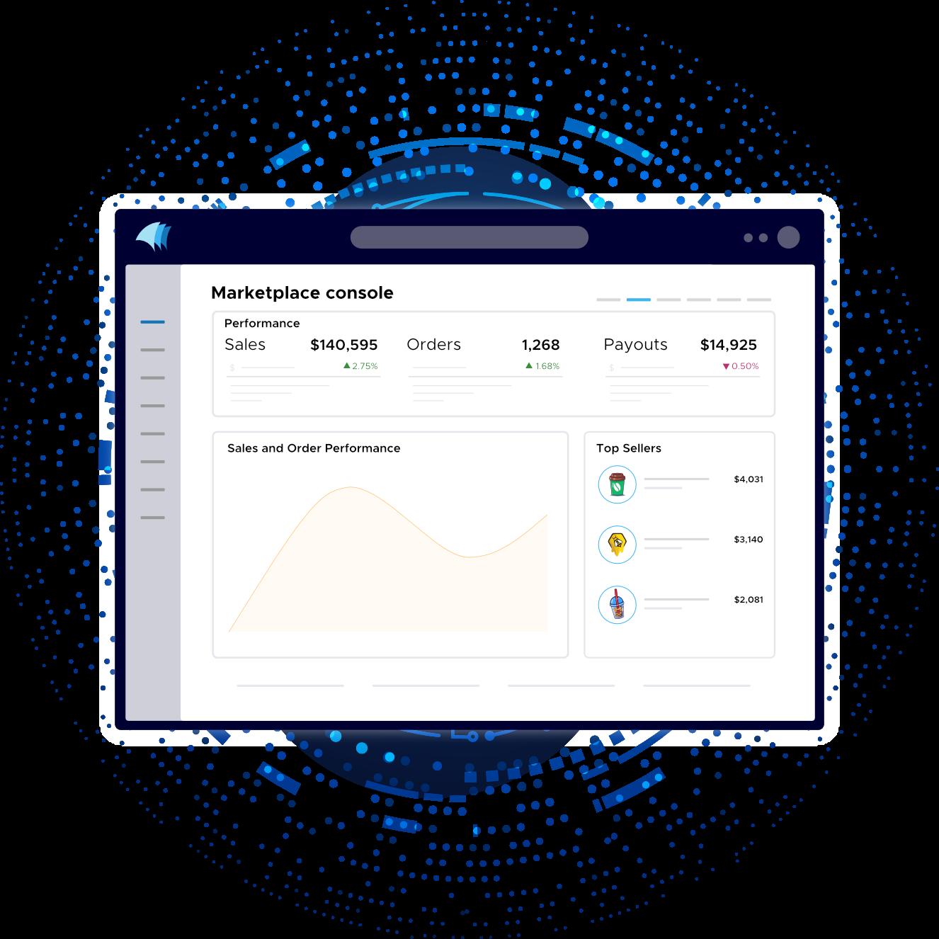 Nautical multi-vendor marketplace dashboard