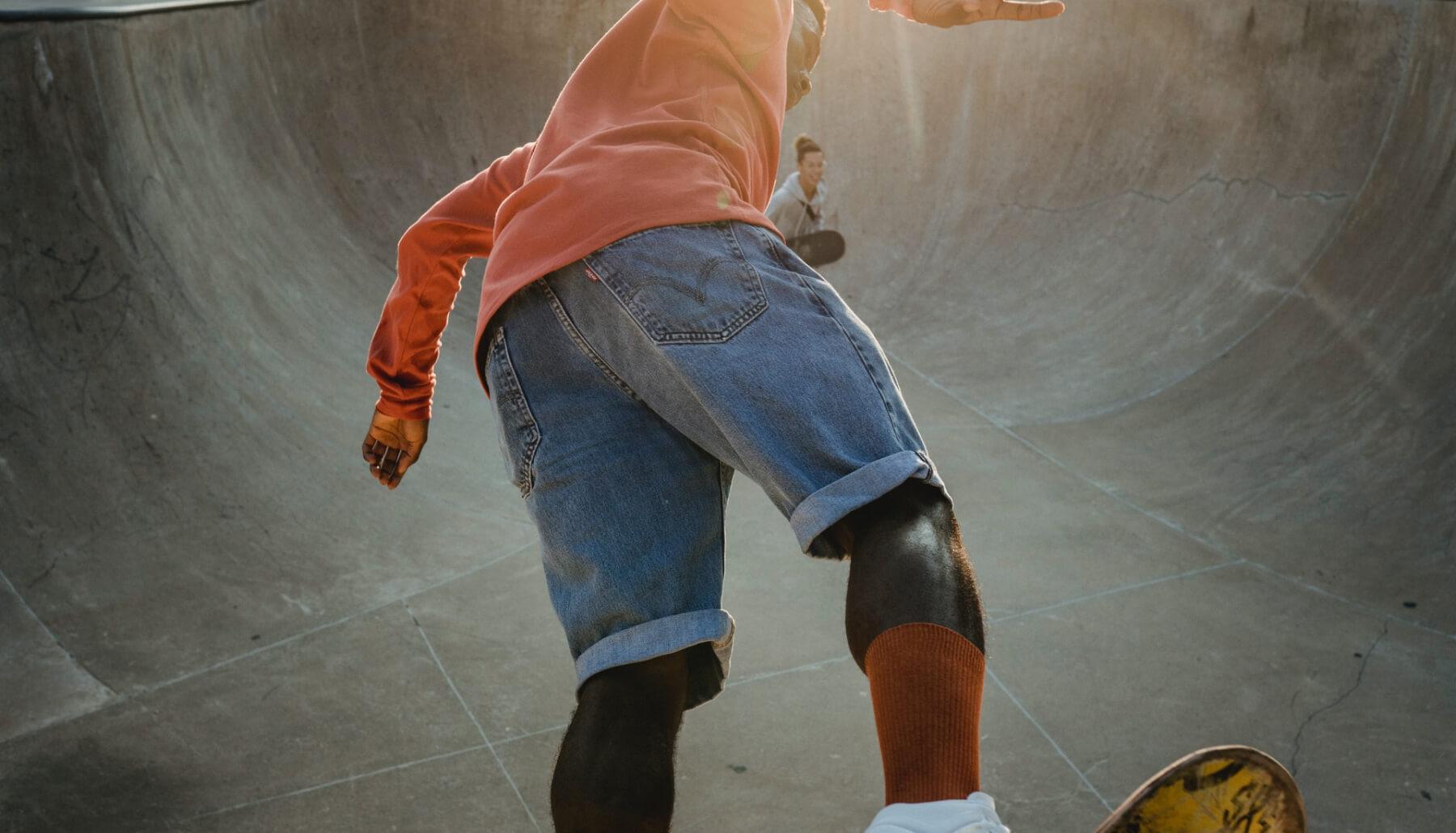 Skater in a skatepark