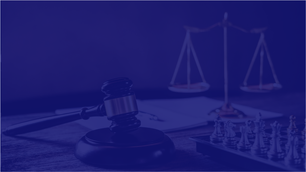 gavel, scale, and chess to show expertise of law