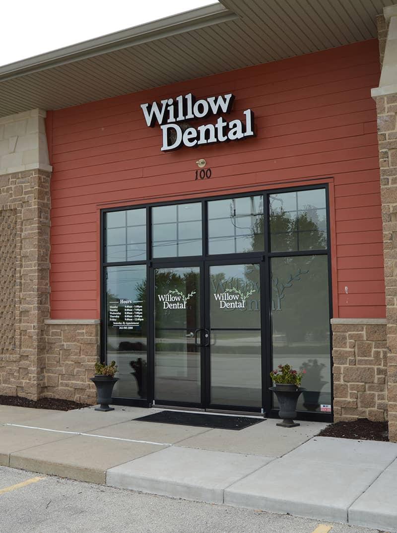 front door of willow dental