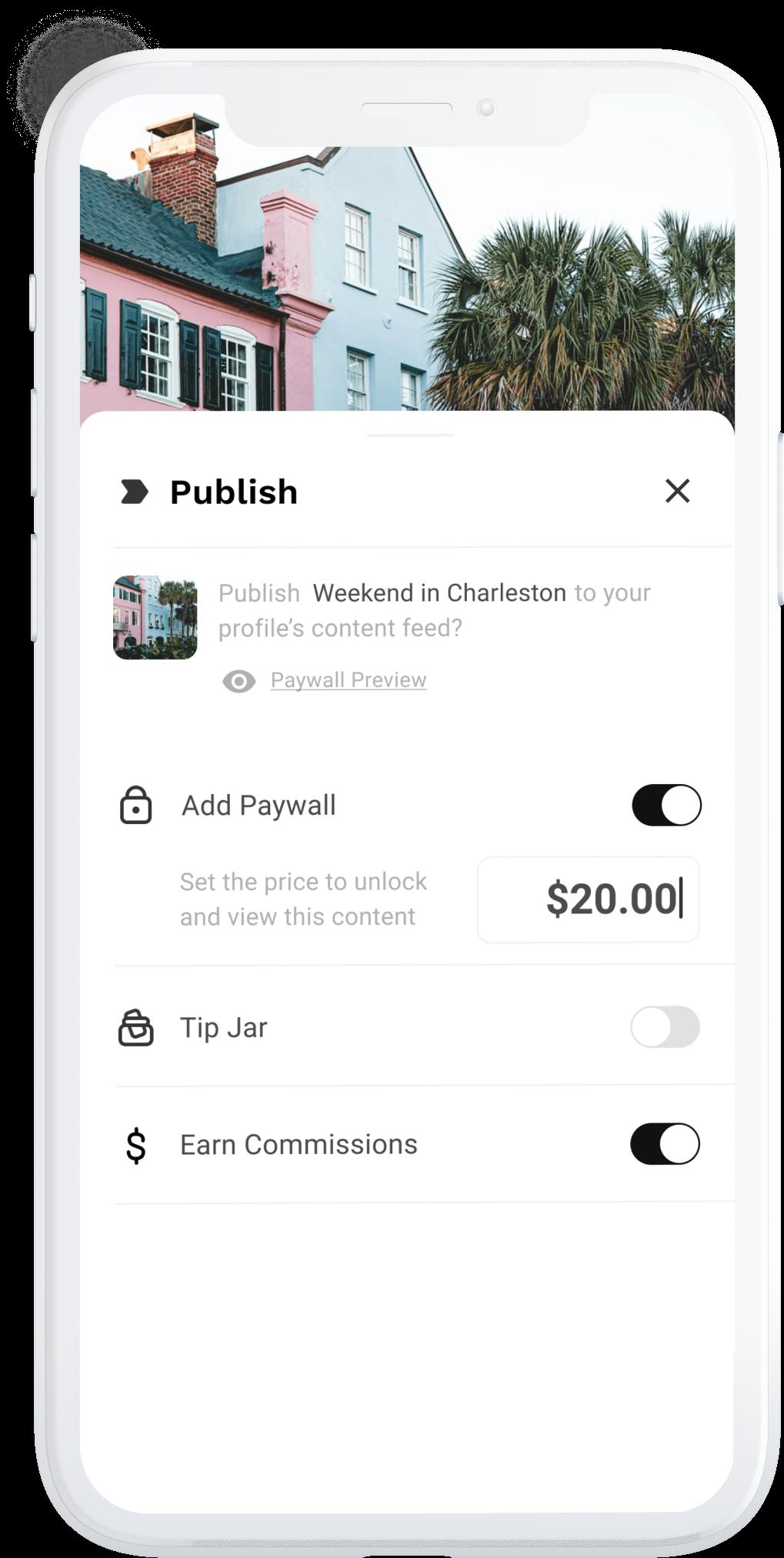 Thatch app monetization features