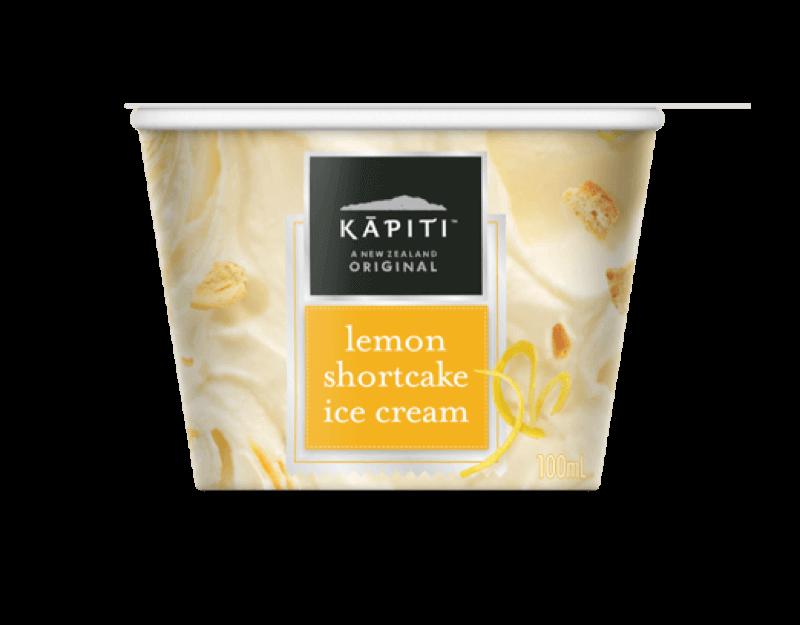 Kāpiti Lemon Shortcake Ice Cream