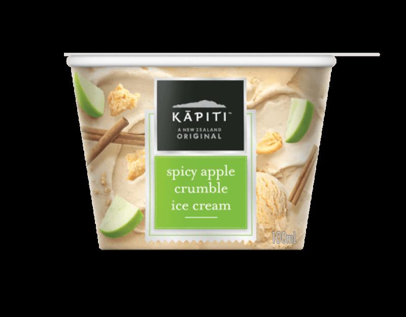 Kāpiti Spicy Apple Crumble Ice Cream