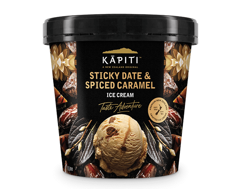 Kāpiti Sticky Date & Spiced Caramel Ice Cream