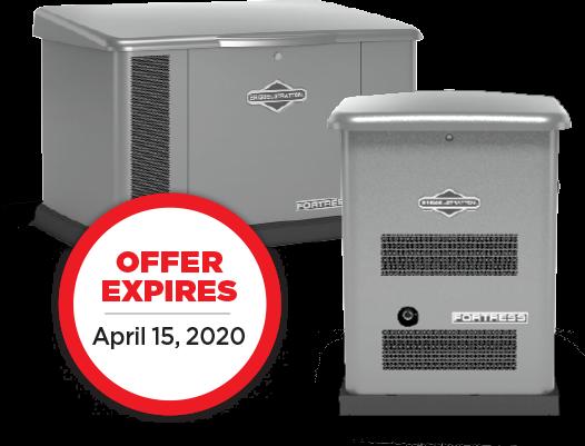 Briggs and Stratton generator special sale information