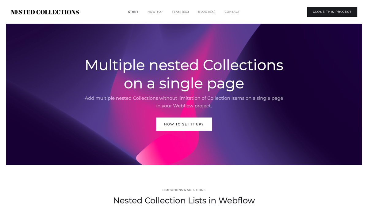 Multiple nested Collections on a single page