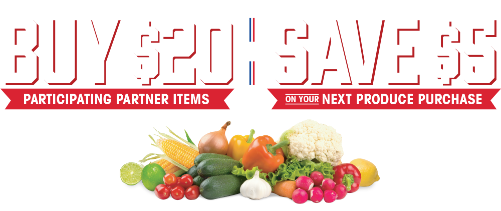Buy $20 Participating Partner Items   Save $5 on Your Next Product Purchase In-store Via Printout at Checkout: 8.25-11.6.2021
