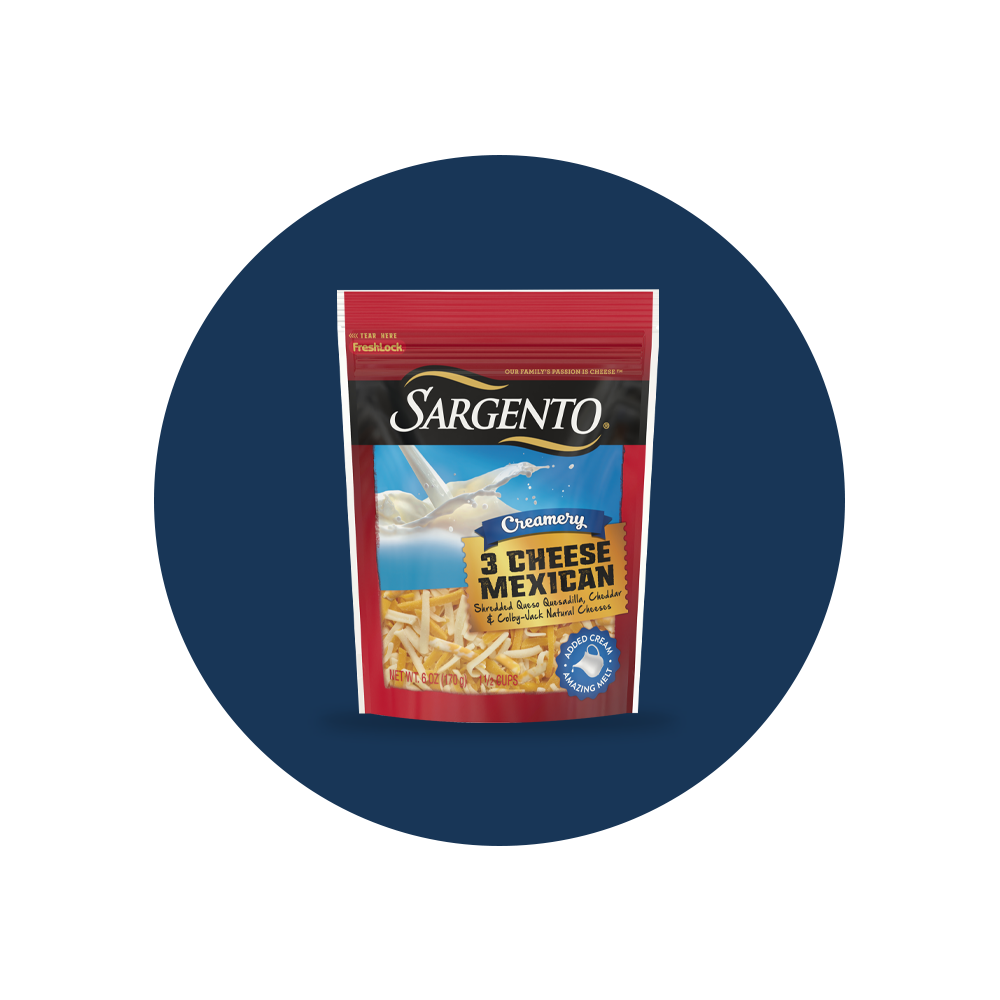 Sargento® 3 Cheese Mexican Shredded Cheese