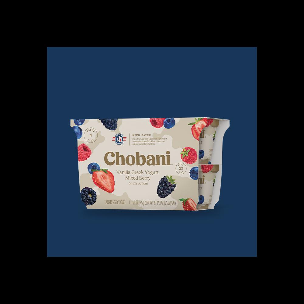 Chobani® Vanilla Greek Yogurt Mixed Berry