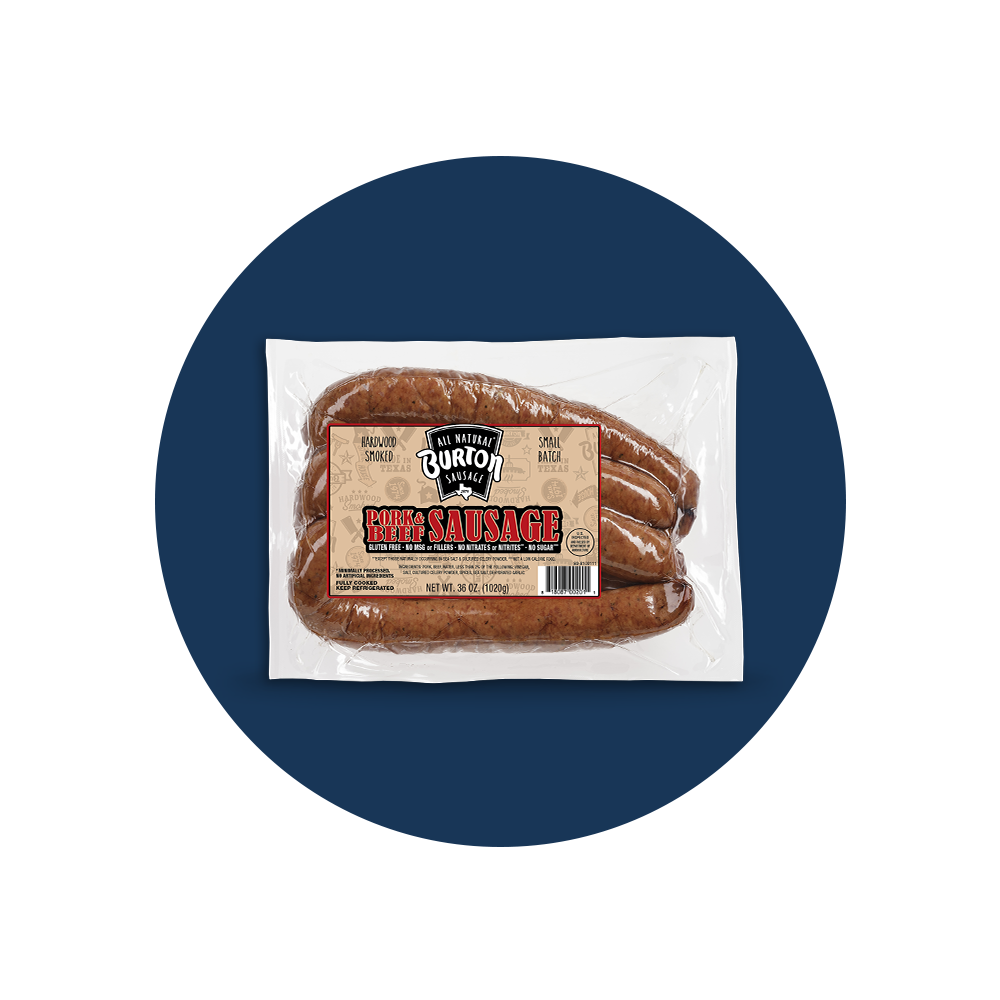 Burton® Pork and Beef Sausage
