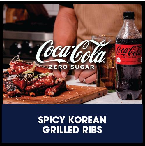 Coca-Cola® Zero Sugar Spicy Korean Grilled Ribs