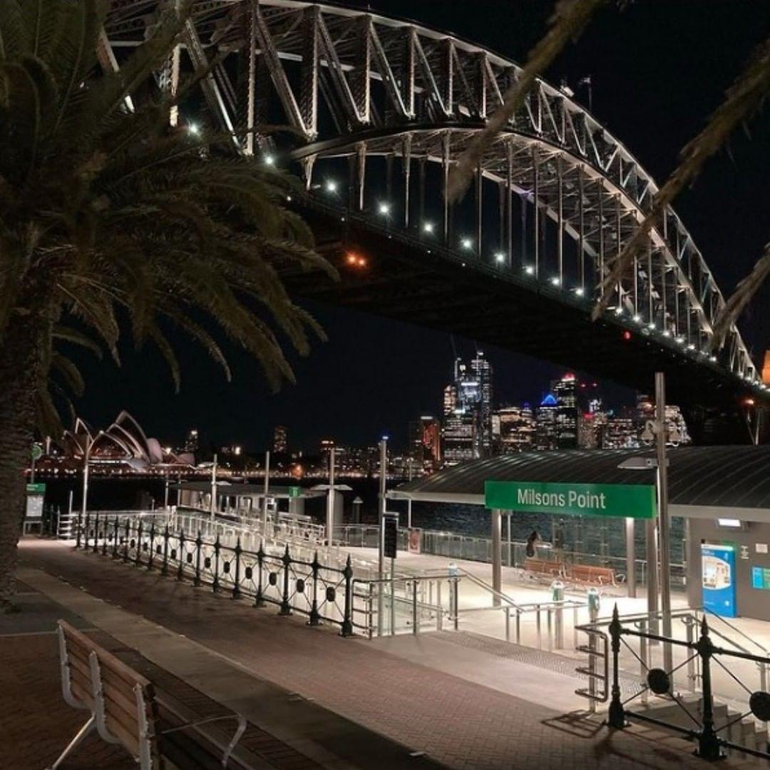 Well lighted bridge