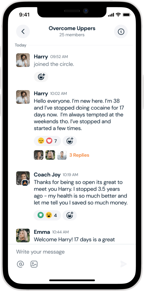 Circles App Screen