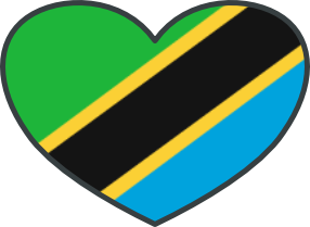 The Tanzanian Flag in the shape of a heart