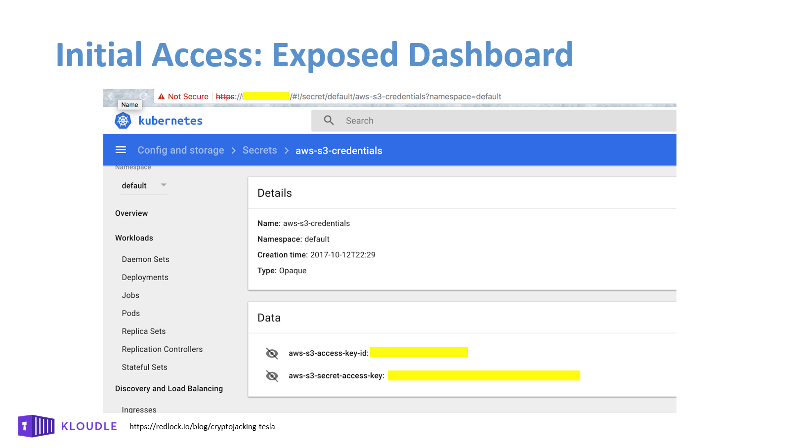Initial Access - Exposed Dashboard