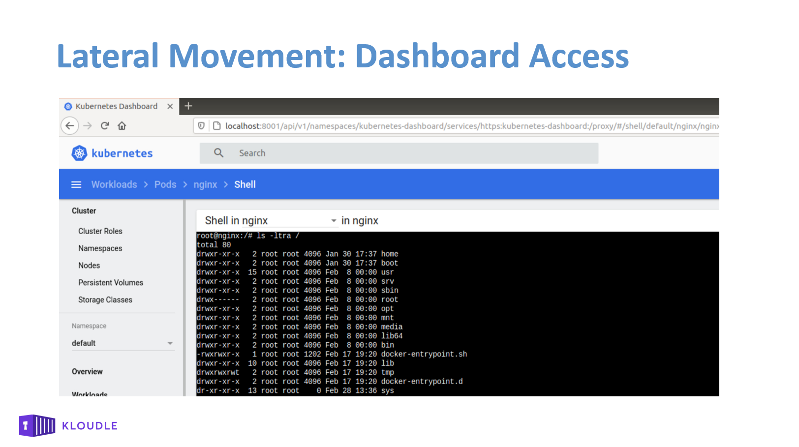 Lateral Movement - Dashboard Access