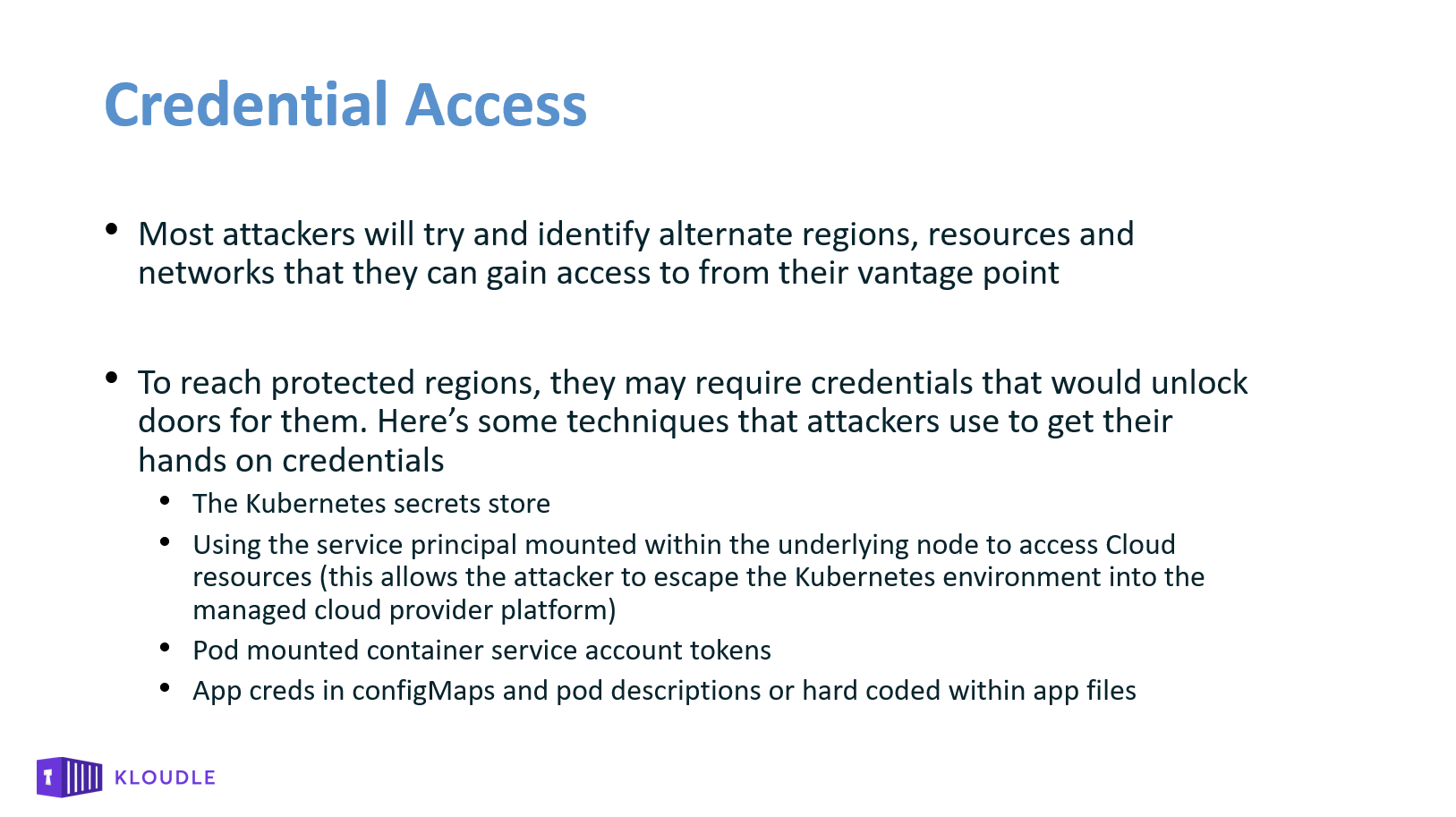 Credential Access Other Techniques