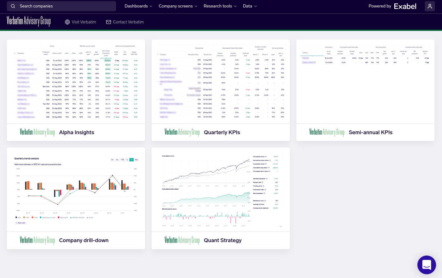 Exabel and Verbatim launch powerful new alternative data insights platform