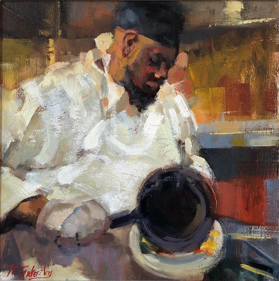 Charleston chef making an omelette