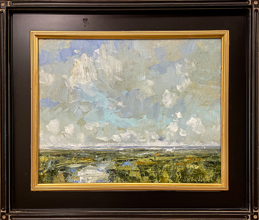 Lowcountry layers painting framed