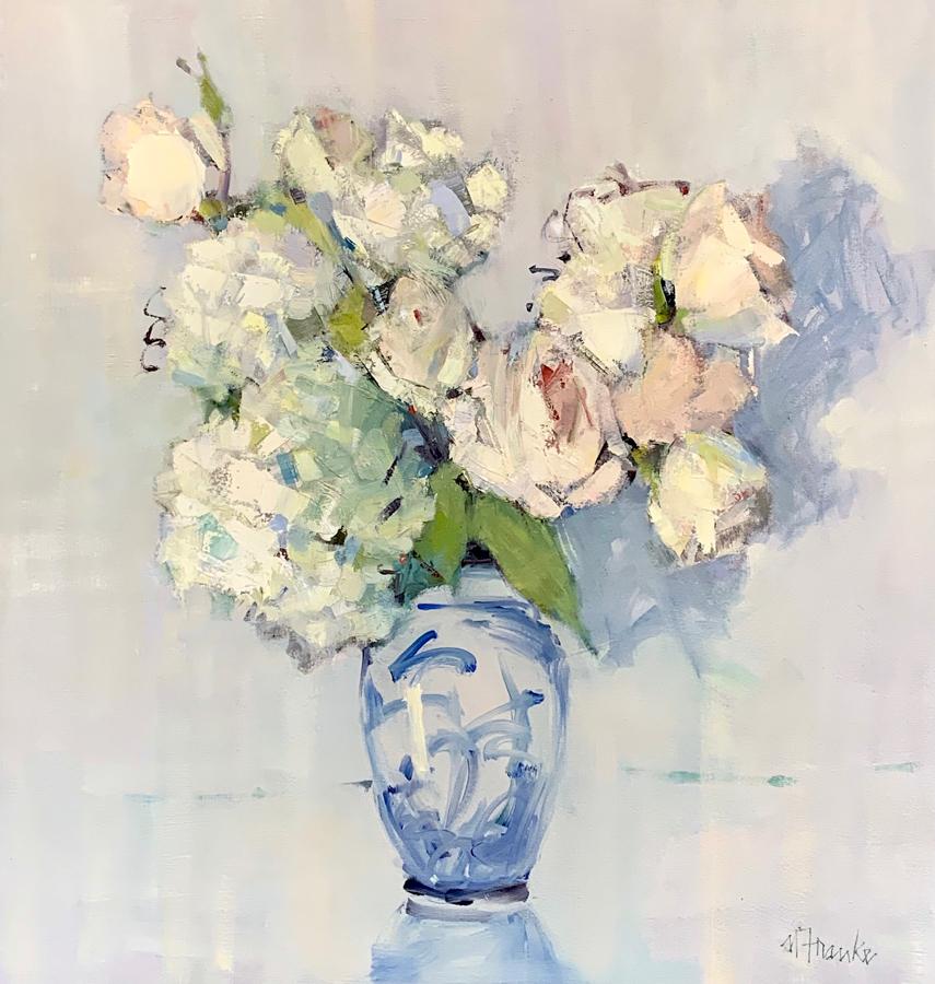 flowers in vase painting