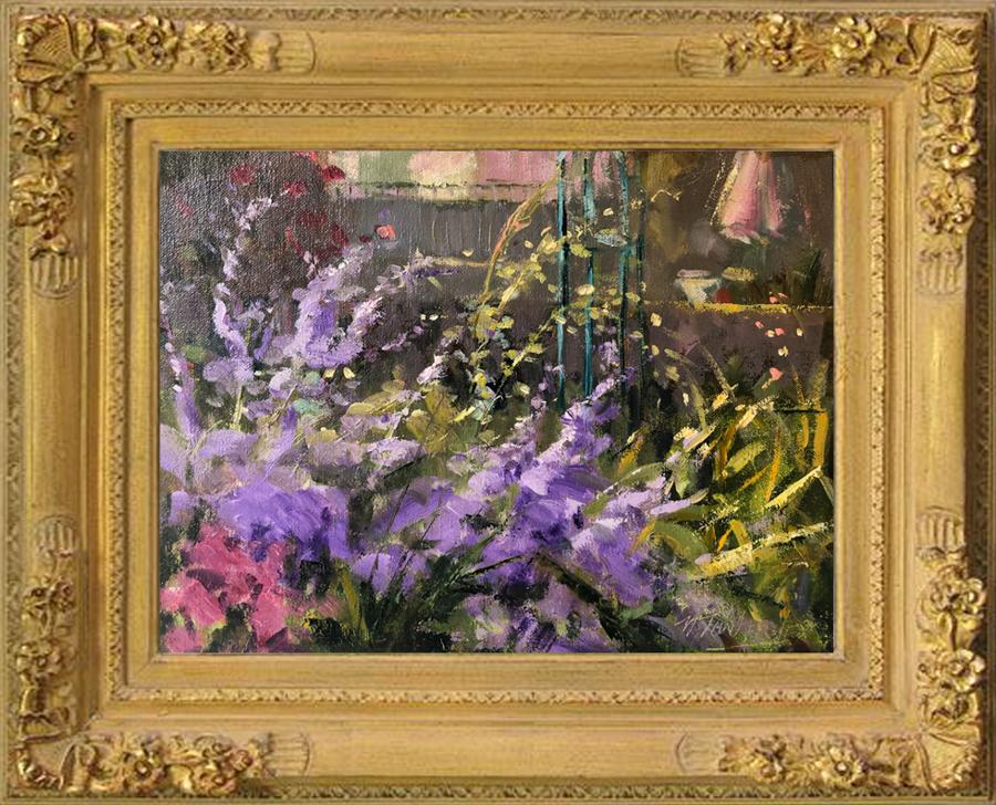 Le Jardin de Lavande painting framed