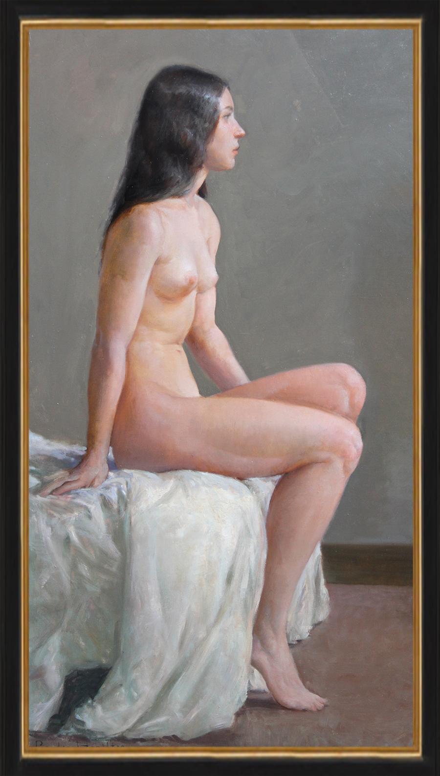 Seated Nude framed