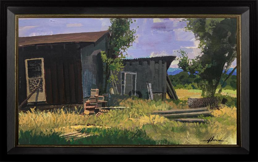 The Old Farmstead framed