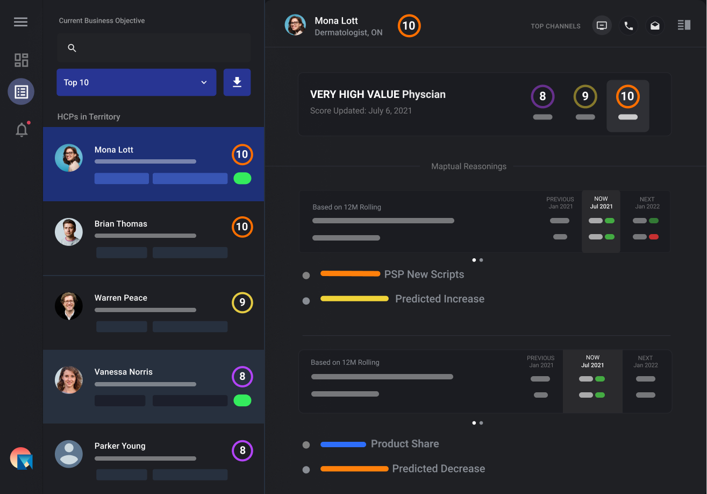 Shows MAPTUAL HCP platform dashboard