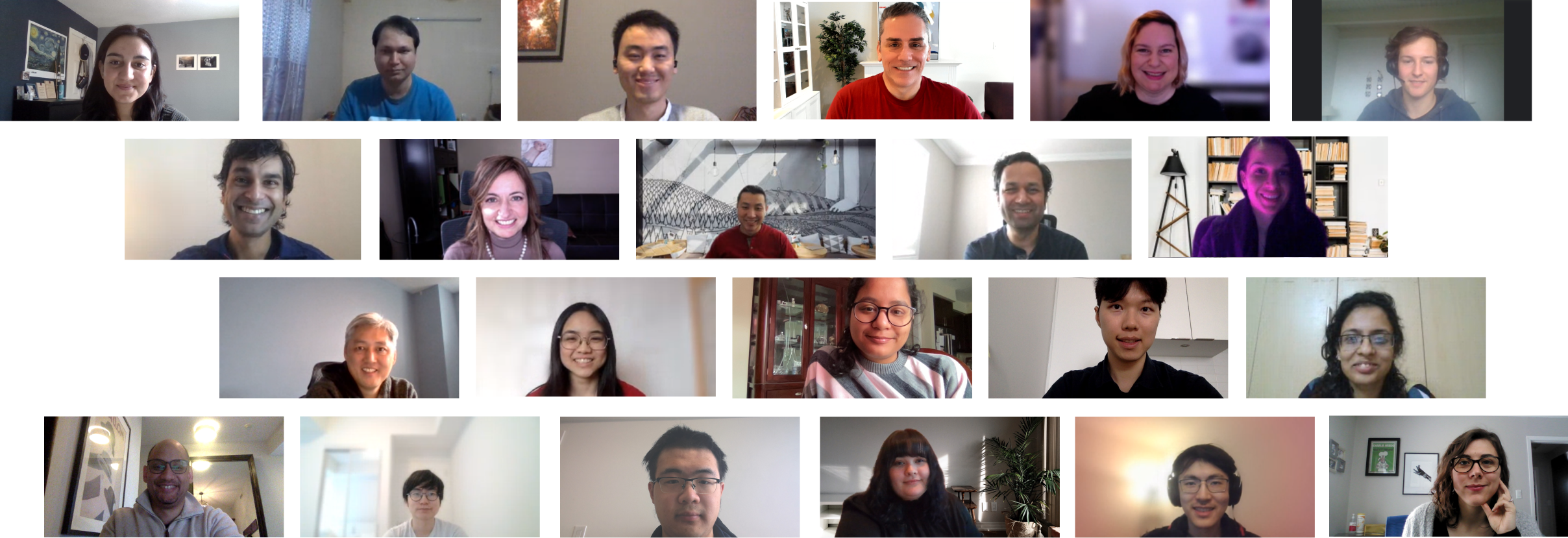 Image of the whole ODAIA team in a virtual meeting