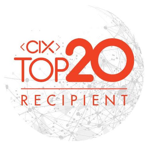CIX top 20 recipient award logo